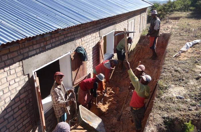 Construction de l'école
