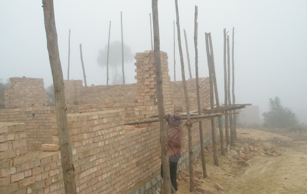 Construction des murs