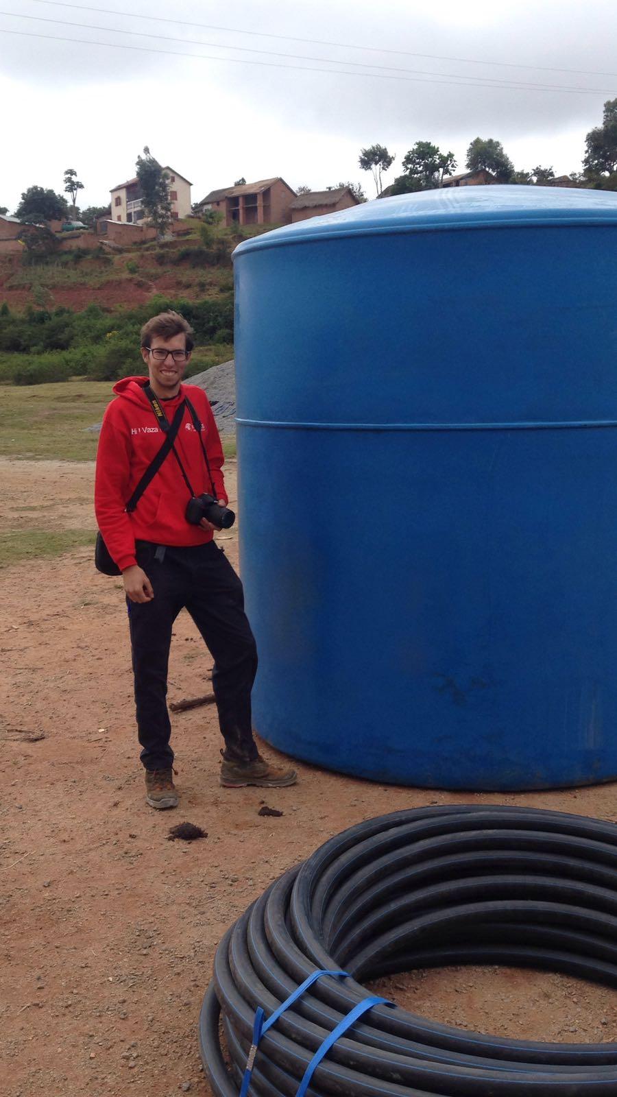 Citerne faisant partie du réseau d'eau.